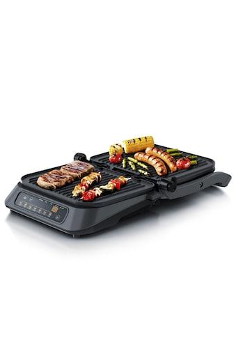 Arendo Kontaktgrill mit Digitalsteuerung in Grau »Tischgrill / Sandwichmaker 1900W« kaufen