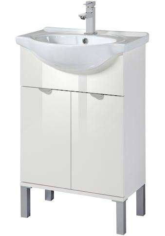 WELLTIME Waschtisch »Malmö«, Waschplatz, 55 cm breit, Bad - Set 2 - tlg. kaufen