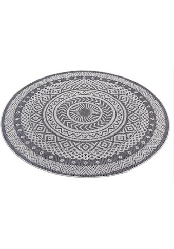 Leonique Teppich »Sia«, rund, 3 mm Höhe, Wohnzimmer, In- und Outdoor geeignet kaufen