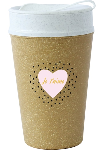 KOZIOL Coffee-to-go-Becher »ISO TO GO JE TÁIME«, (1 tlg.), 100% biobasiertes Material,... kaufen