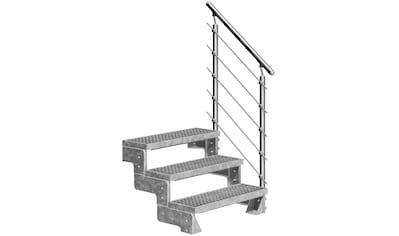 DOLLE Außentreppe »Gardentop«, für Geschosshöhen bis 66 cm, Gitterroststufen 80 cm kaufen