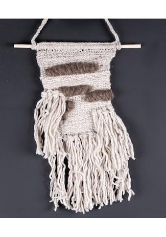 THEKO Wandteppich »Wallart KnotLove«, rechteckig, 15 mm Höhe, Wanddeko, reine Wolle,... kaufen