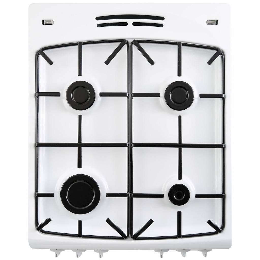 Amica Gas-Standherd »SHEG 11557 W«, SHEG 11557 W, mit Backauszug, Einhand-Funkenzündung
