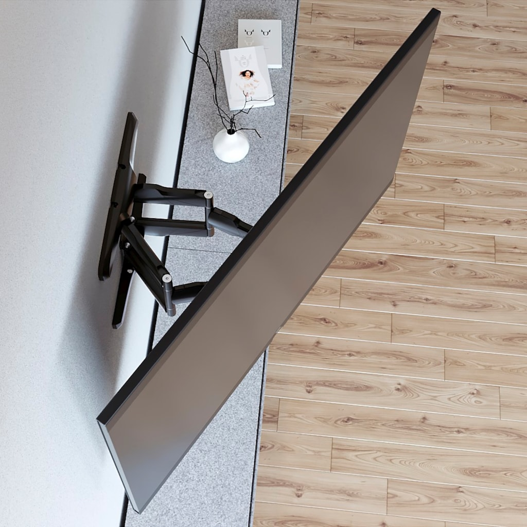 Hama TV Wandhalter schwenkbar, Fernsehhalterung bis 229cm/90Zoll