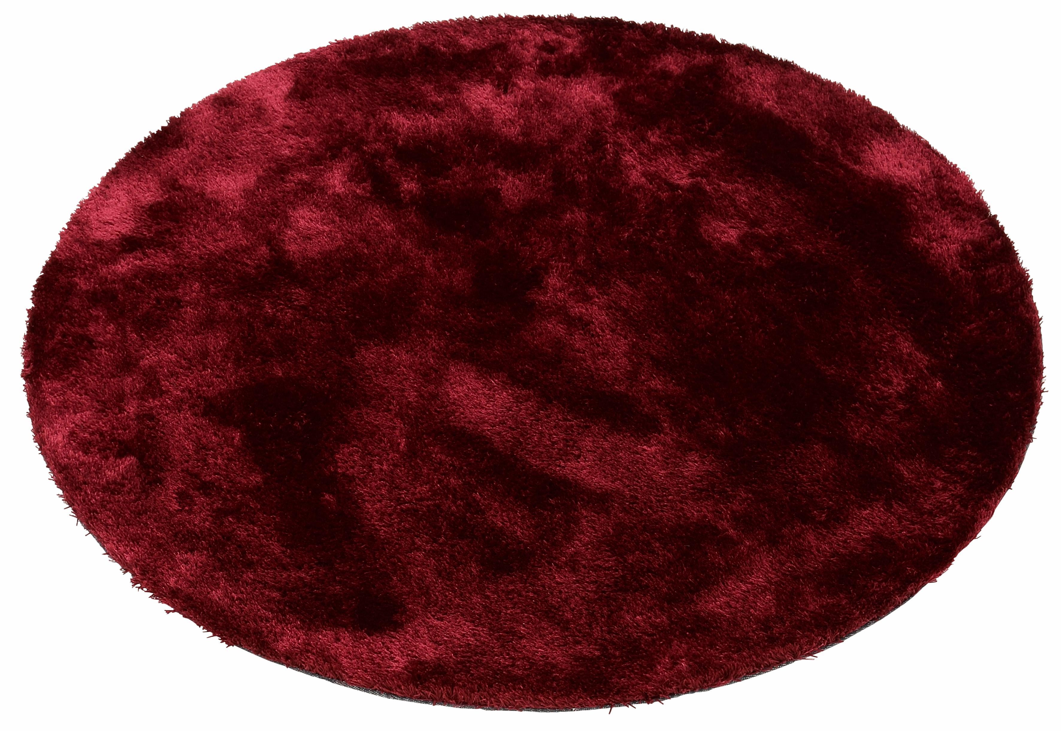 Hochflor-Teppich, »Dana«, Bruno Banani, rund, Höhe 30 mm, maschinell gewebt | Heimtextilien > Teppiche > Hochflorteppiche | Rot | Bruno Banani