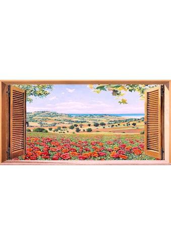 Home affaire Kunstdruck »A.D. MISSIER / Finestra su campo di papaveri«, (1 St.) kaufen