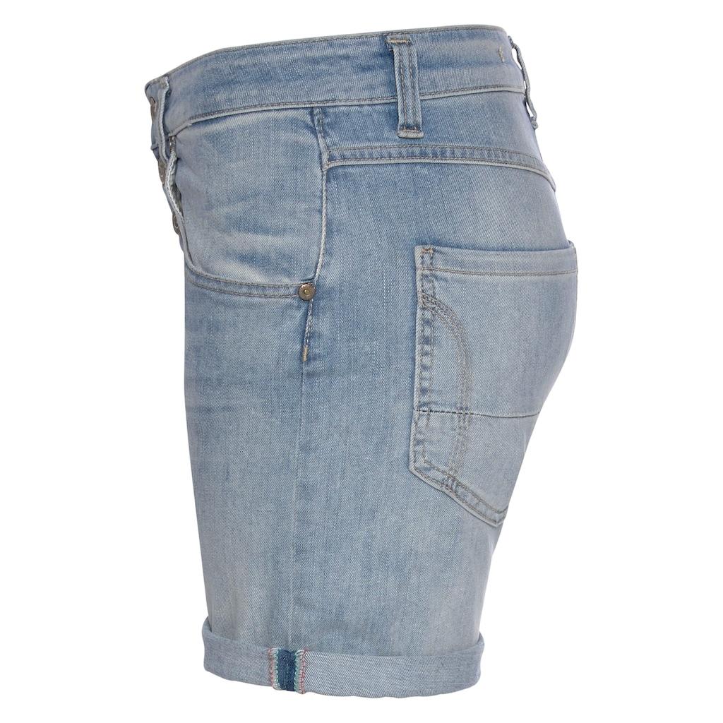 Please Jeans Jeansbermudas »P88A«, coole Jeansshorts mit dekorativer Knopfleiste und Eingrifftaschen