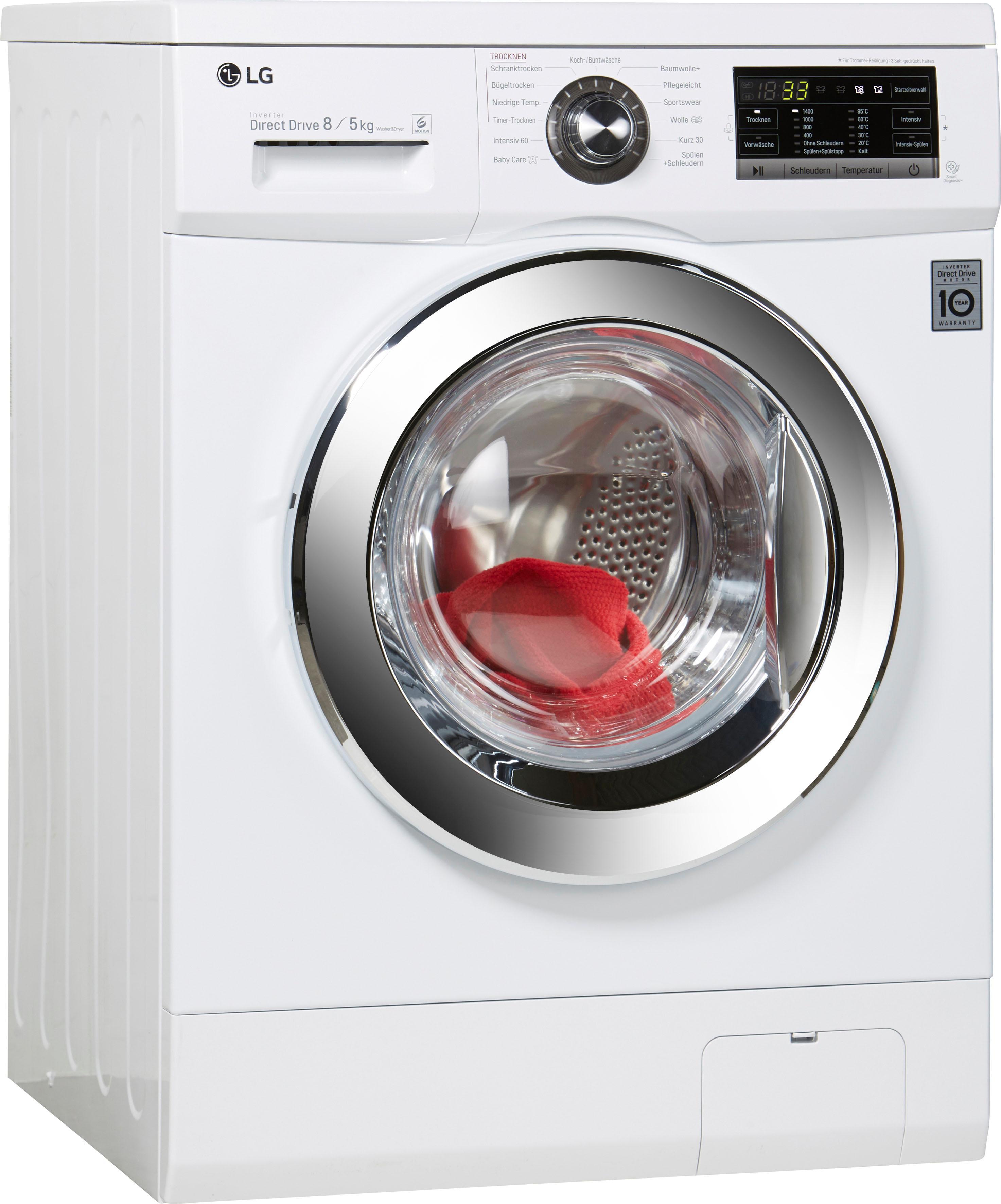 LG Waschtrockner F 14G6 TDM2NH, 8 kg / 5 kg, 1400 U/Min | Bad > Waschmaschinen und Trockner > Waschtrockner | Weiß | LG