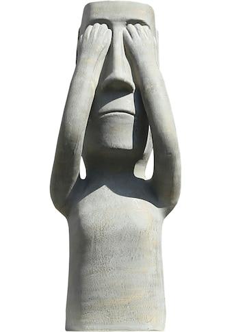 GILDE Dekofigur »Skulptur Nichts sehen«, Dekoobjekt, Höhe 63,5 cm, aus Keramik,... kaufen