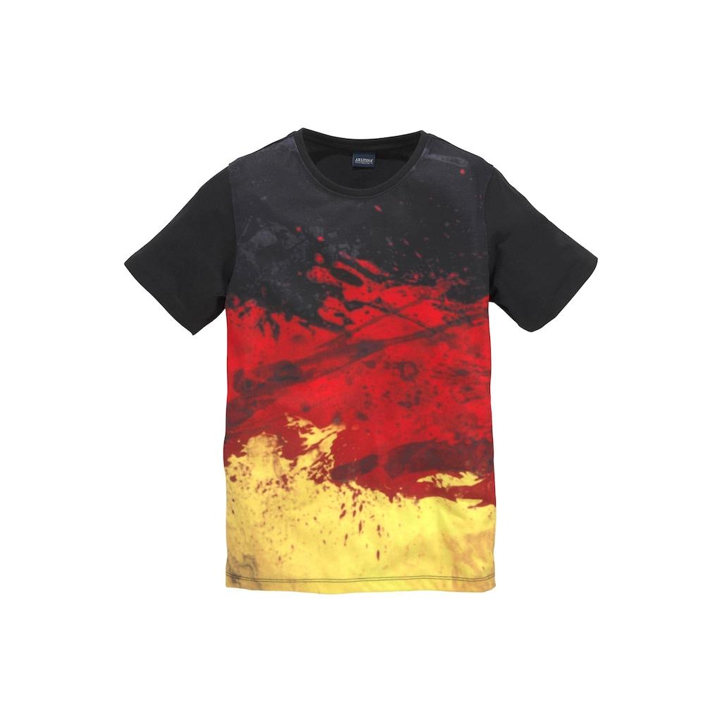 Arizona T-Shirt »schwarz/rot/gold/ Deutschland«