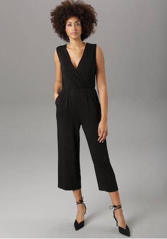 Aniston SELECTED Culotte-Overall, unifarben oder im modischen Druck - NEUE KOLLEKTION kaufen