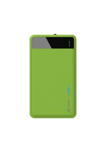 XLAYER Zusatzakku »Powerbank Colour Line Green 4000mAh Smartphones/Ta« kaufen
