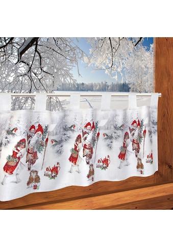 Delindo Lifestyle Scheibengardine »Weihnachtsengel«, mit Schlaufenaufhängung, für die... kaufen
