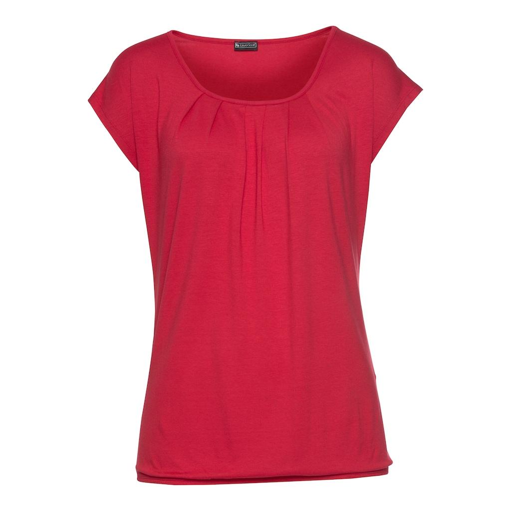Laura Scott Rundhalsshirt, mit elastischem Bund