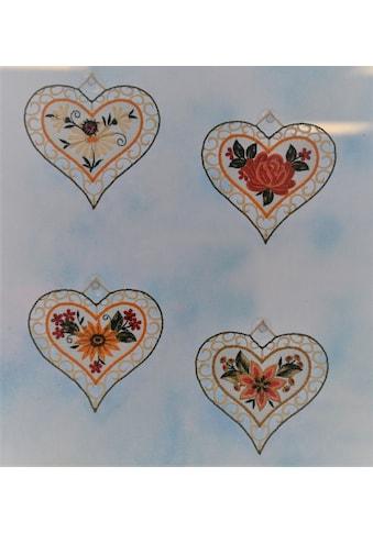 Stickereien Plauen Fensterbild »4 Jahreszeiten« kaufen