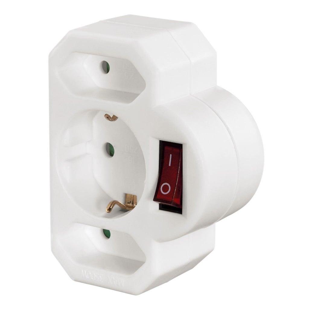 Hama Multistecker, 3-fach, Schalter, Steckdosenleiste