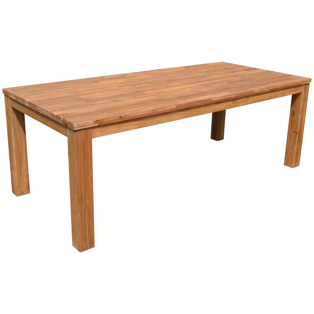 GARDEN PLEASURE Gartentisch »PALA«, Akazienholz, 220x100 cm, sandgestrahlt