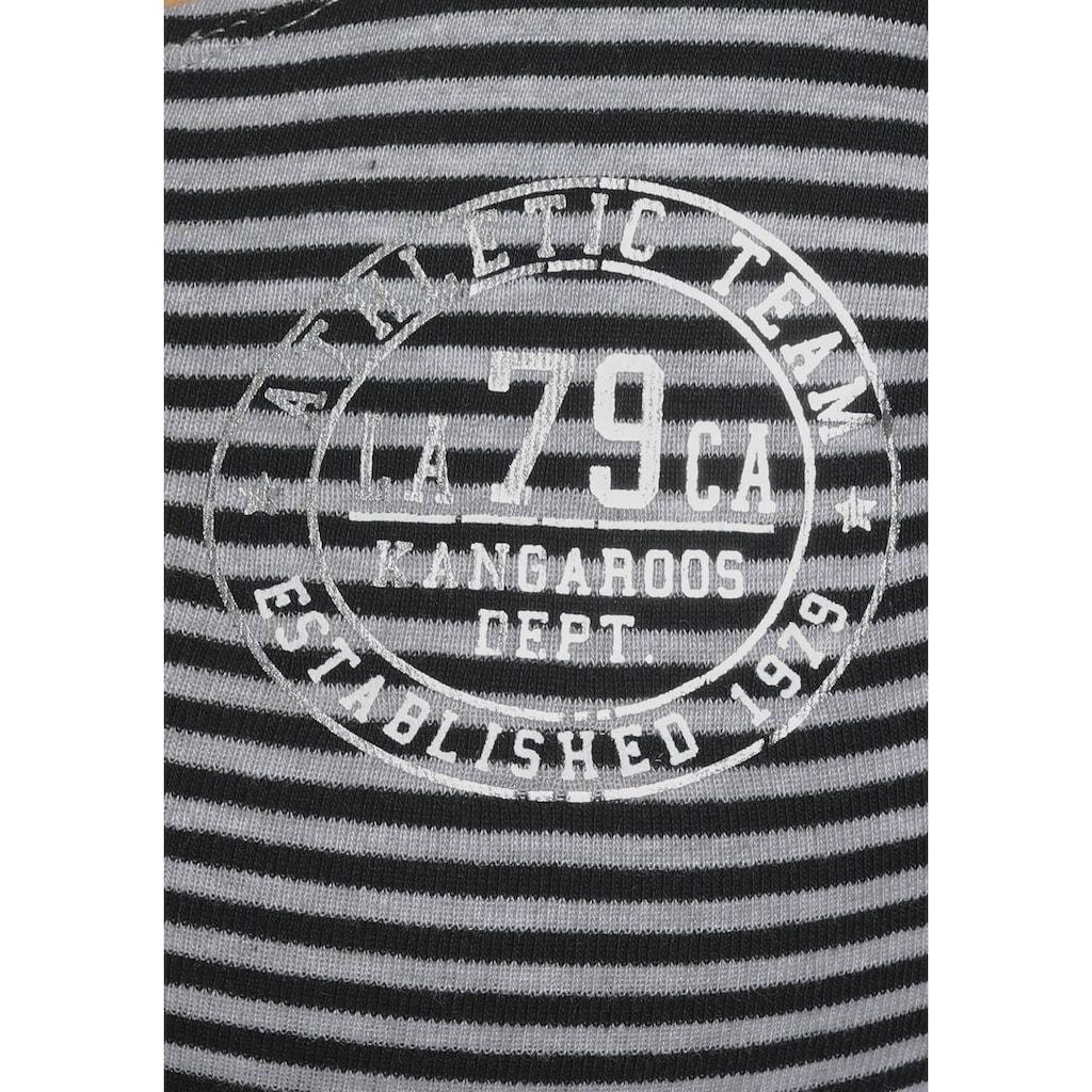 KangaROOS Langarmshirt, in maritimer Ringeloptik