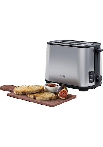 AEG Toaster »T4-1-4ST Deli 4«, 2 kurze Schlitze, 980 W kaufen