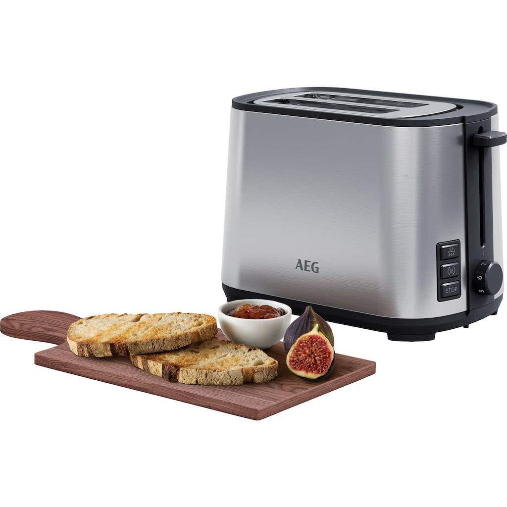 AEG Toaster »T4-1-4ST Deli 4«, 2 kurze Schlitze, 980 W