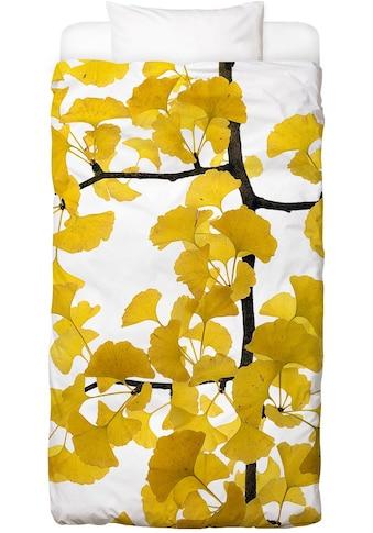 Juniqe Bettwäsche »Flora - Ginko«, In vielen weiteren Designs erhältlich kaufen