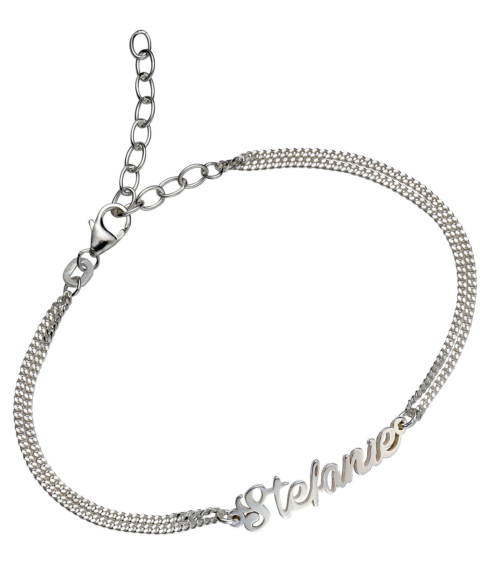Firetti Armband »Namenskette als Armband in Panzerkettengliederung« | Schmuck > Halsketten > Namensketten | Firetti