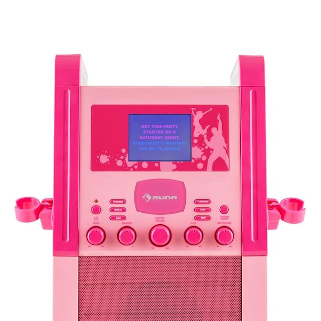 Auna Karaokeanlage CD-Player AUX 2 x Mikrofon pink »KA8P-V2 PK«