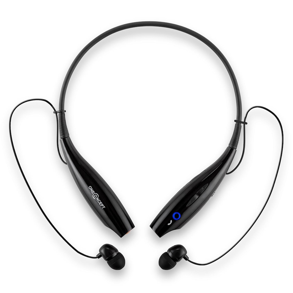 ONECONCEPT Bluetooth-Kopfhörer Akku Freisprechanlage Vibrationsalarm