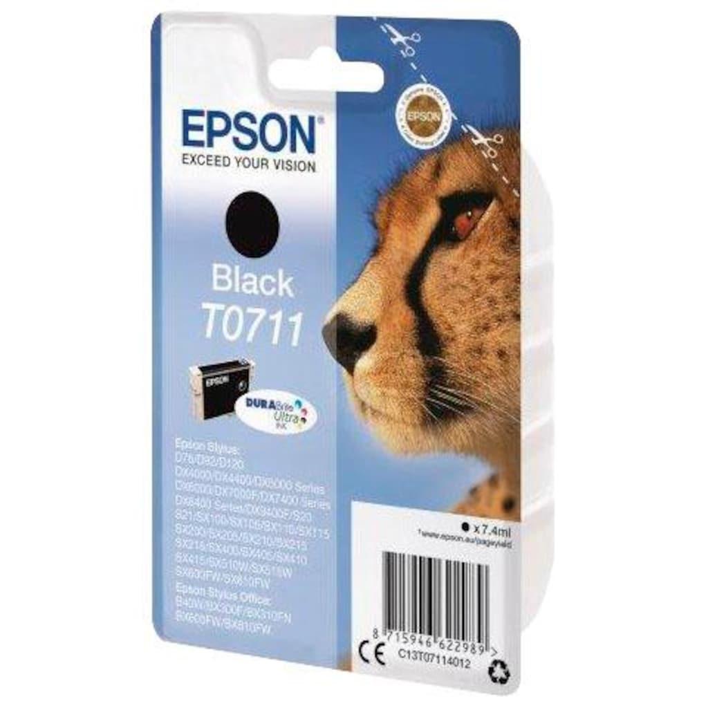 Epson »T0711 Original Schwarz C13T07114012« Tintenpatrone