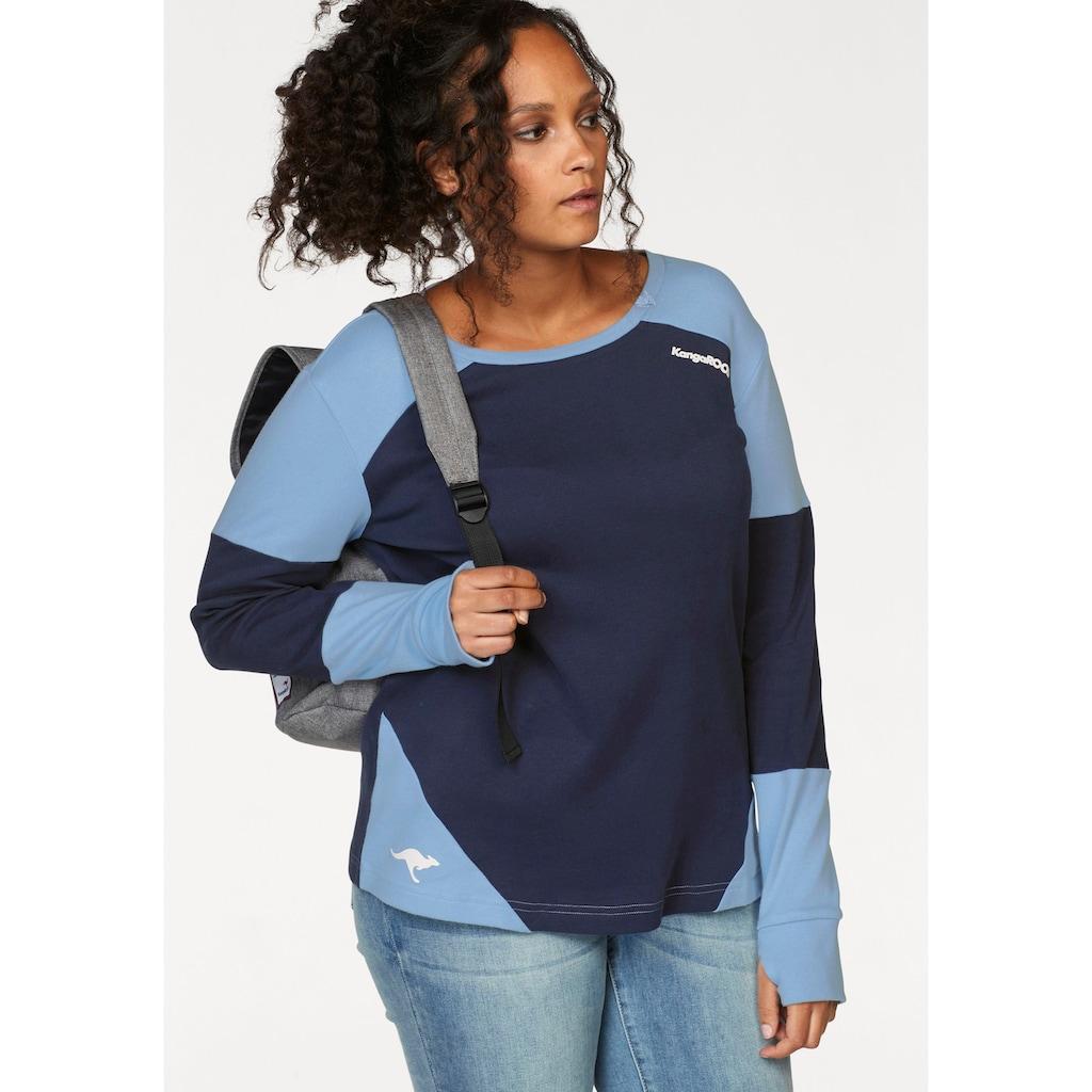 KangaROOS Sweatshirt, im modischen Color-Blocking