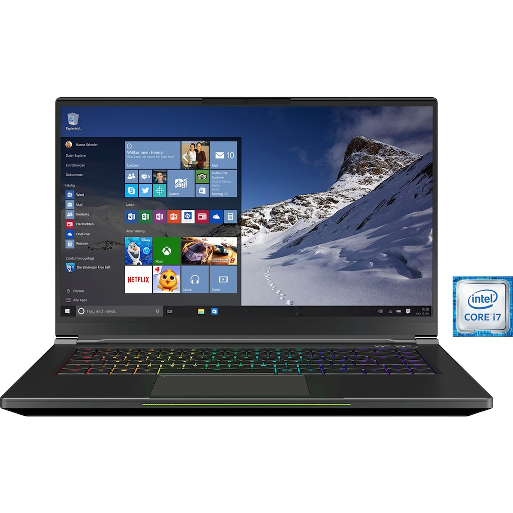 XMG Notebook »FUSION 15-L19«, (500 GB SSD)