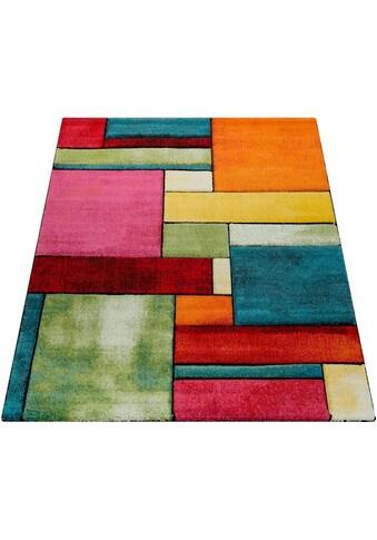 Paco Home Teppich »Brilliance 661«, rechteckig, 18 mm Höhe, Kurzflor mit 3D-Muster,... kaufen