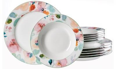 Ritzenhoff & Breker Tafelservice »Celine«, (Set, 12 tlg.), Floral-Dekor kaufen