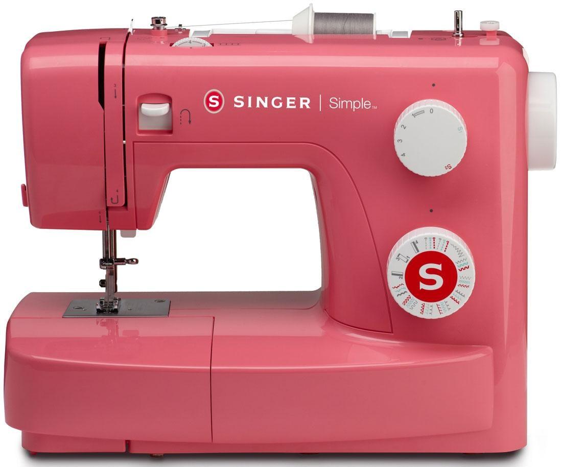 Singer Nähmaschine Simple 3223R, 23 Nähprogramme   Flur & Diele > Haushaltsgeräte > Strick und Nähmaschinen   Rot   SINGER