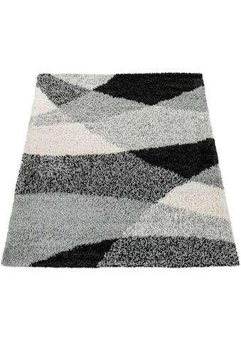 Paco Home Hochflor-Teppich »Mango 308«, rechteckig, 35 mm Höhe, Moderner Hochflor Shaggy Teppich, Wohnzimmer kaufen
