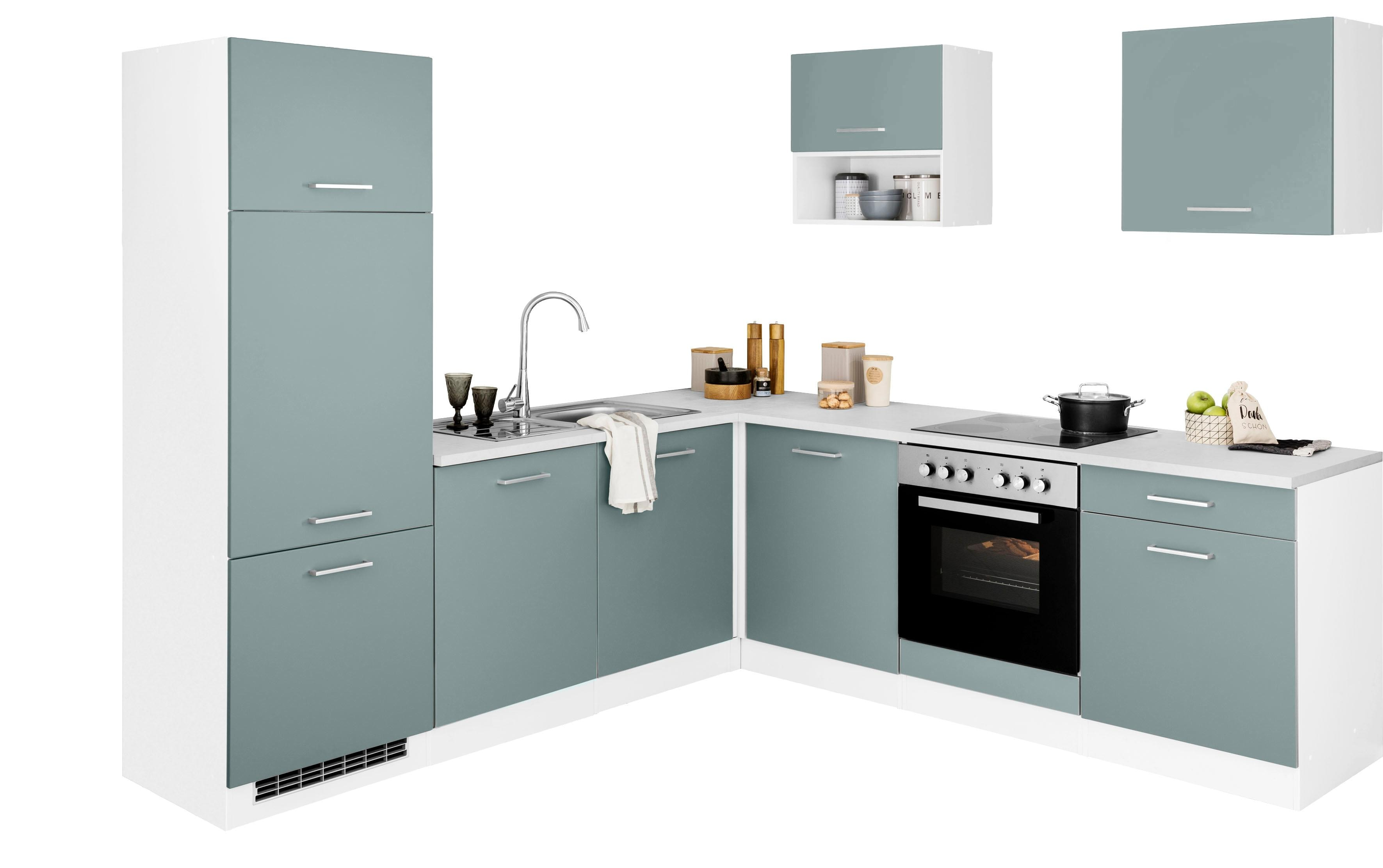 HELD MÖBEL Winkelküche »Visby«, ohne E-Geräte, Stellbreite 240 x 240 cm | Küche und Esszimmer > Küchen > Winkelküchen | HELD MÖBEL