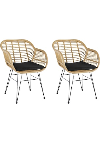 Homexperts Esszimmerstuhl »Ylvi«, Sitzschale aus Kunststoff in Rattan-Optik mit... kaufen