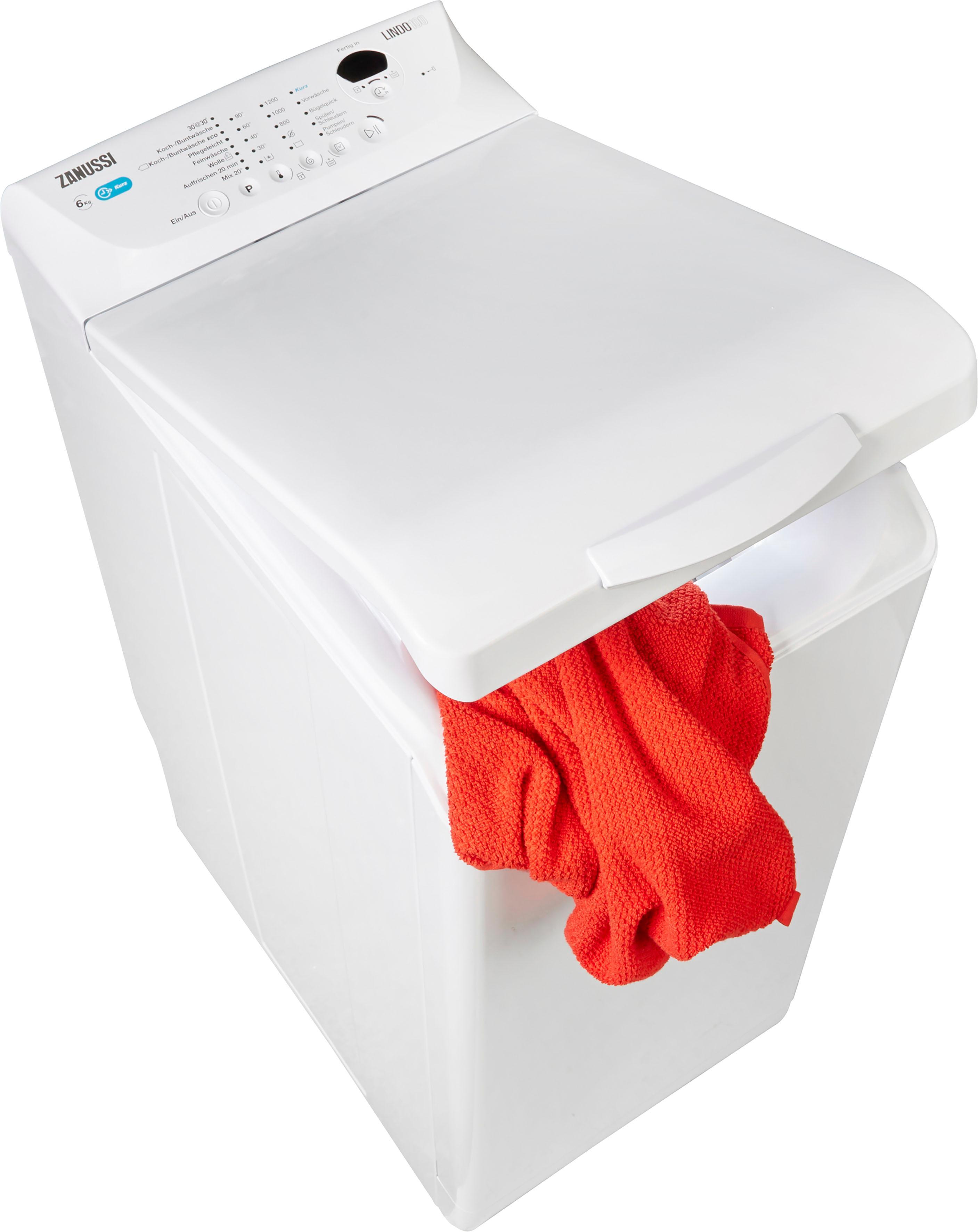 Zanussi Waschmaschine Toplader ZWQ61235CI | Bad > Waschmaschinen und Trockner > Toplader | Zanussi