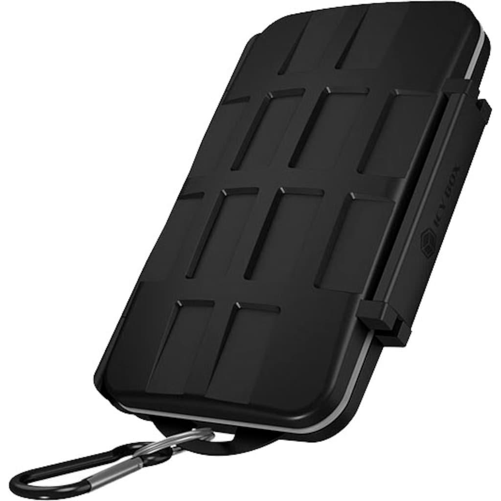 Raidsonic Computer-Adapter »ICY BOX Schutzbox für SD (x8), microSD (x16) und CF (x4) -Karten«