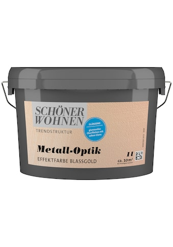 SCHÖNER WOHNEN-Kollektion Wandfarbe »Metall-Optik Effektfarbe blassgold«, glänzend 1 l kaufen