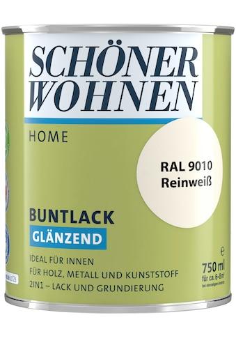 SCHÖNER WOHNEN-Kollektion Lack »Home Buntlack«, glänzend, 750 ml, reinweiß RAL 9010 kaufen