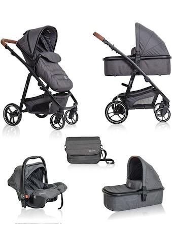 BabyGo Kombi-Kinderwagen »Simplex 3in1 Pram, Grey melange«, 15 kg, inklusive Babywanne... kaufen