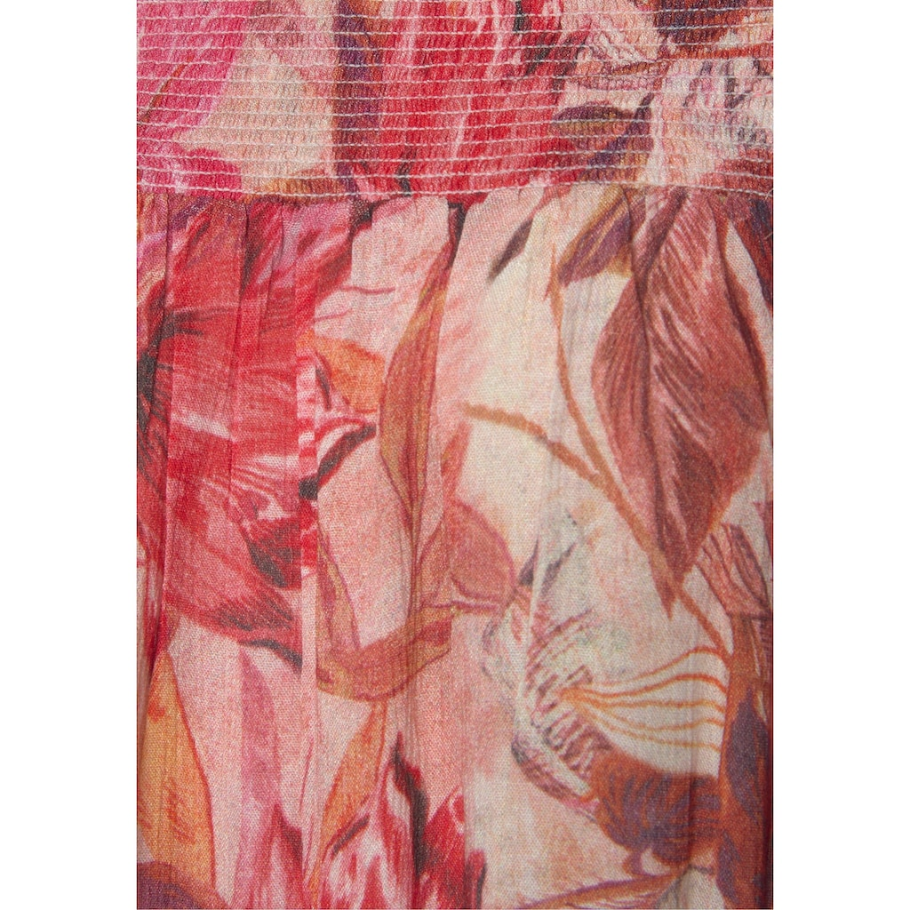 s.Oliver Strandkleid, mit Blumenprint
