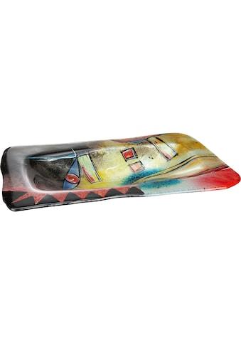GILDE GLAS art Dekoschale »Confuso 2«, handbemalt mit Fusingglas-Elementen kaufen