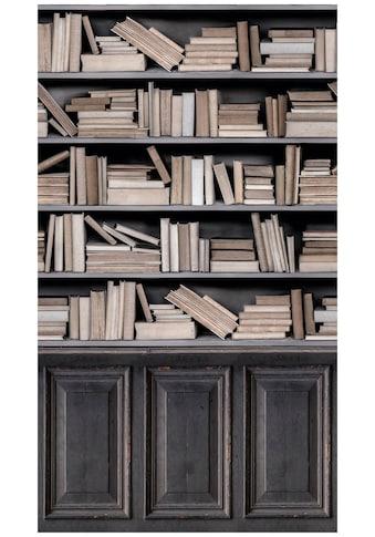 Bodenmeister Fototapete »3d Effekt Bücherregal hell« kaufen
