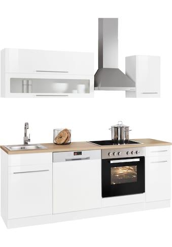 HELD MÖBEL Küchenzeile »Eton«, mit E-Geräten, Breite 210 cm kaufen