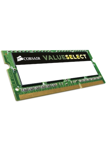Corsair Laptop-Arbeitsspeicher »ValueSelect 4GB DDR3L SODIMM« kaufen