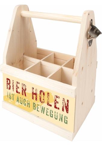 """Contento Flaschenkorb """"Bierholen ist auch Bewegung"""" kaufen"""