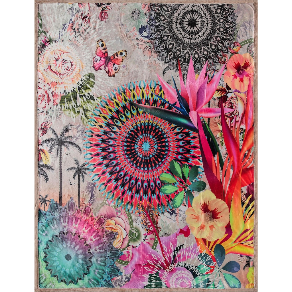hip Plaid »Maelli«, mit Mandalas und exotischen Blüten