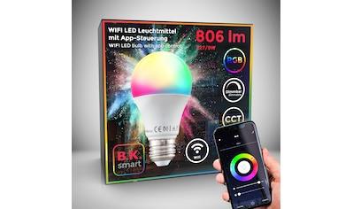 B.K.Licht LED-Leuchtmittel, E27, 1 St., Farbwechsler, Smart Home LED-Lampe RGB WiFi App-Steuerung dimmbar CCT Glühbirne 9W 806 Lumen kaufen